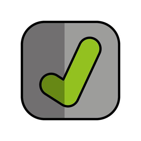 ok button isolated icon vector illustration design Illustration