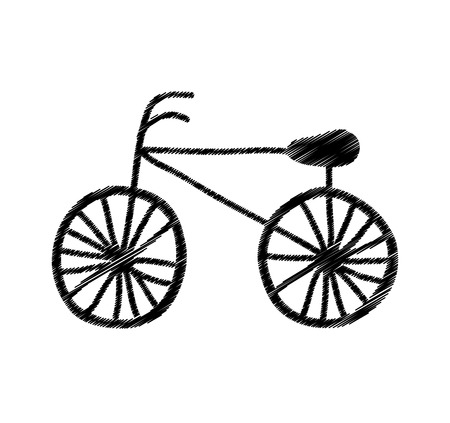 bicycle drawing isolated icon vector illustration design