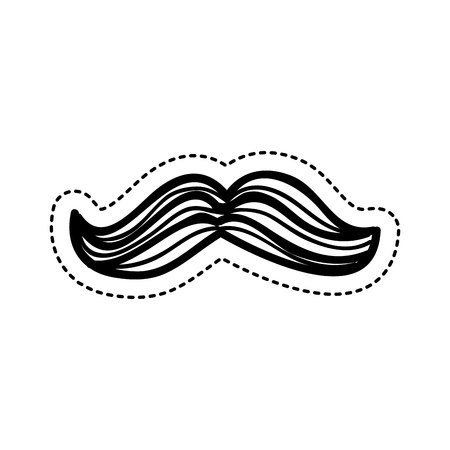 royal person: mustache hipster isolated icon vector illustration design Illustration