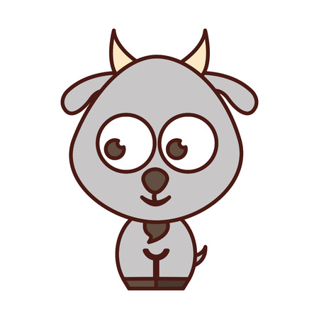 tender: cute goat tender character vector illustration design Illustration