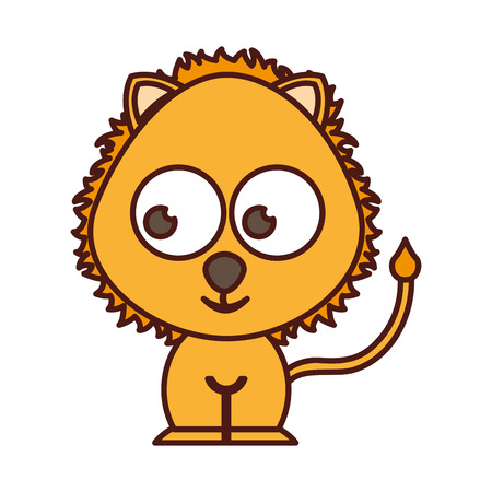 leon: cute lion tender character vector illustration design Illustration