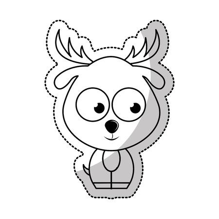 tender: cute reindeer tender character vector illustration design