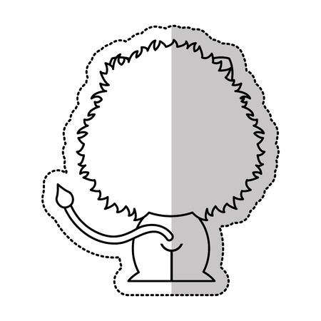 tender: cute lion tender character vector illustration design Illustration