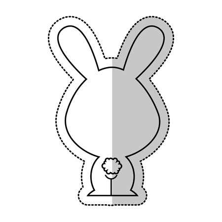 tender: cute rabbit tender character vector illustration design Illustration