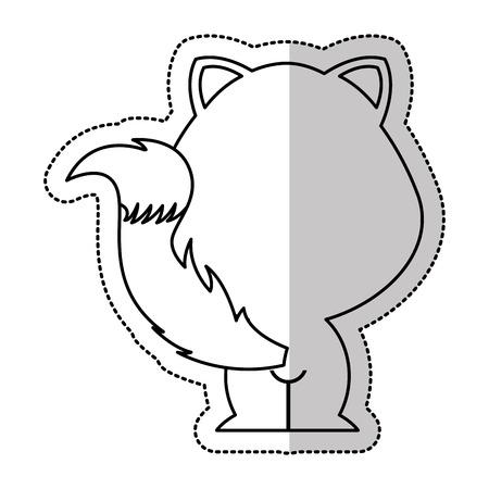 tender: cute fox tender character vector illustration design