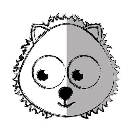 leon de dibujos animados: tierna linda del león de la ilustración del vector del carácter de diseño Vectores