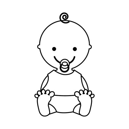 cute baby character icon vector illustration design