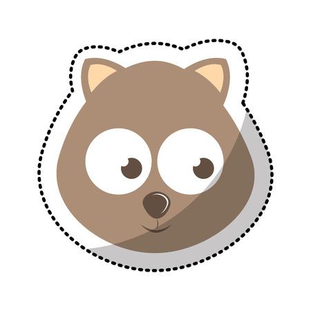 tender: cute cat tender character vector illustration design