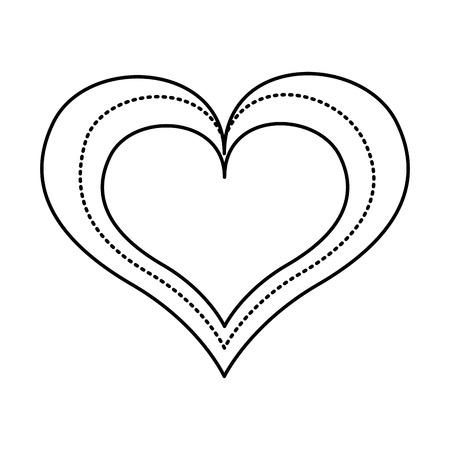 Herz Liebe Zeichnung Symbol Vektor-Illustration, Design,