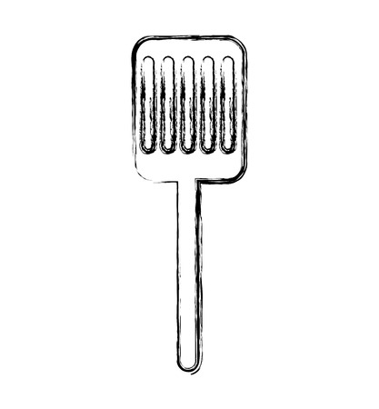 slotted: kitchen spatula isolated icon vector illustration design