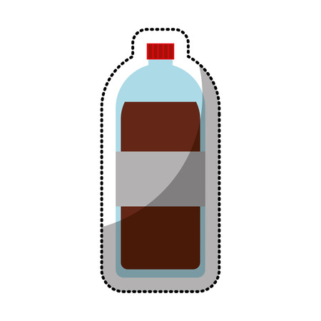 soda bottle: soda bottle isolated icon vector illustration design