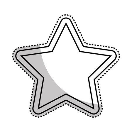 star favorite symbol icon vector illustration design