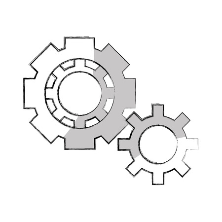 cogwheel: gears machine isolated icon vector illustration design