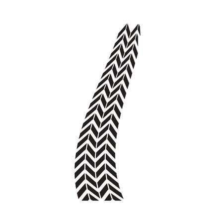 tread: tire tracks mark isolated icon vector illustration design