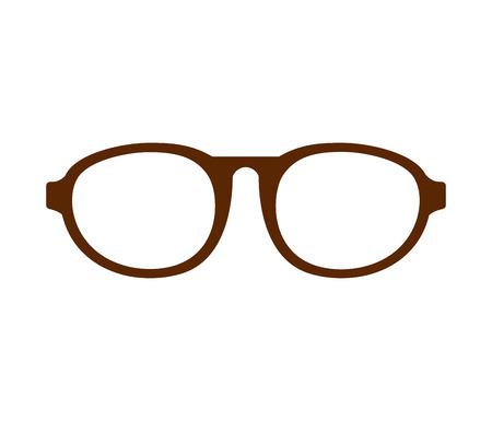 eye glasses style icon vector illustration design