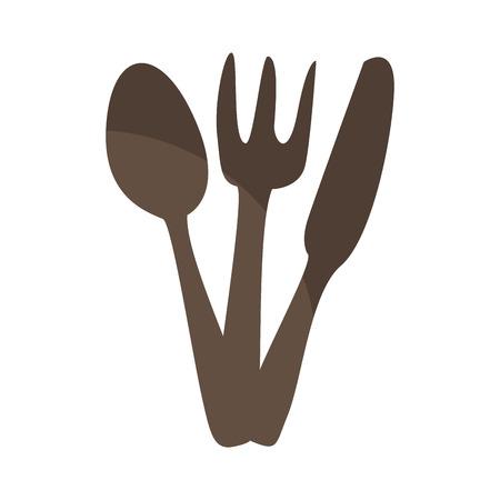 kitchen cutlery isolated icon vector illustration design
