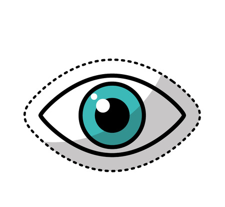 human eye: human eye symbol icon vector illustration design