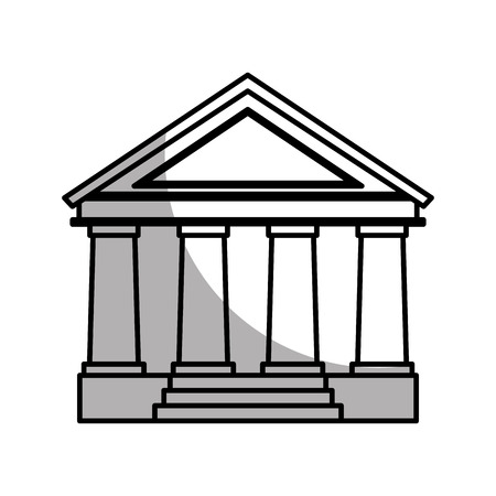supreme court: court building isolated icon vector illustration design Illustration