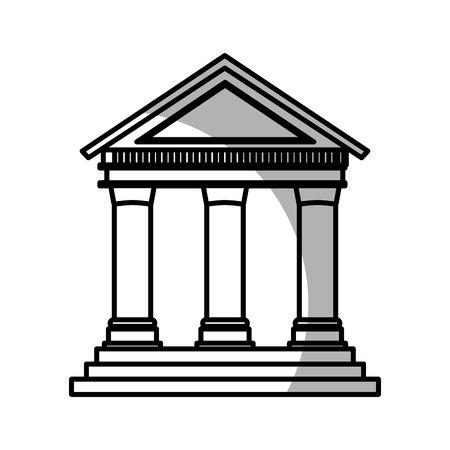 roman pillar: court building isolated icon vector illustration design Illustration