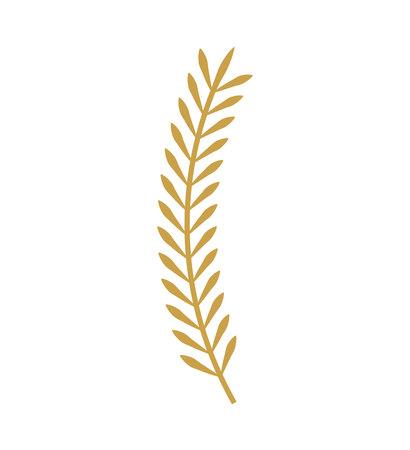 elite: leafs gold decorative icon vector illustration design Illustration