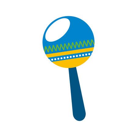 maracas: maracas tropical instrument icon vector illustration design Illustration