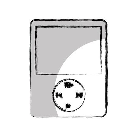 portable audio: music player mp3 icon vector illustration design Illustration