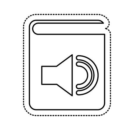 electronic book: audio book electronic icon vector illustration design Illustration