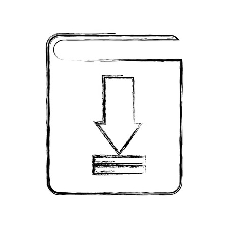 electronic book: download electronic book icon vector illustration design