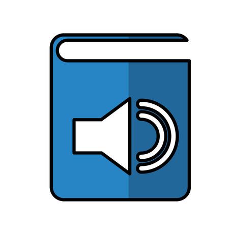 audio book electronic icon vector illustration design Illustration