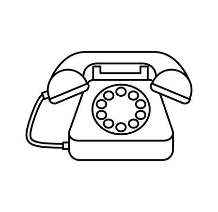 Servicio telefónico aislado icono de ilustración vectorial de diseño Foto de archivo - 67869851