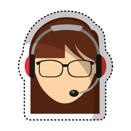 customer service agent avatar vector illustration design Illustration