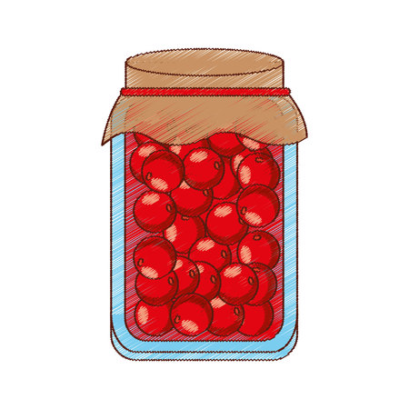 canned fruit: Canned fruit preserves product vector illustration design Illustration