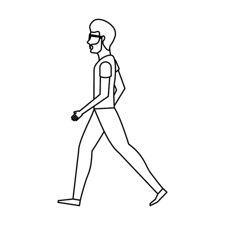 employers: person walking isolated icon vector illustration design