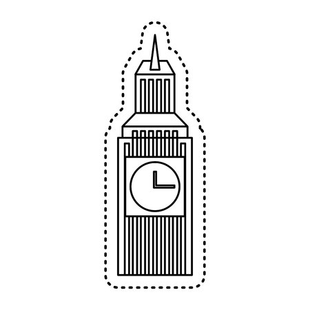 british culture: big ben isolated icon vector illustration design