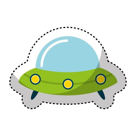 unidentified flying object: space ship isolated icon vector illustration design
