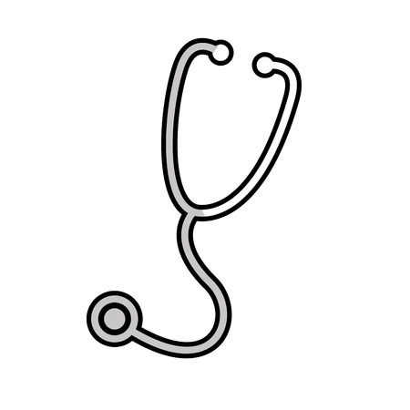 medical device: stethoscope medical device icon vector illustration design Illustration