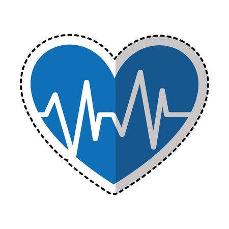 heart with pulse symbol vector illustration design