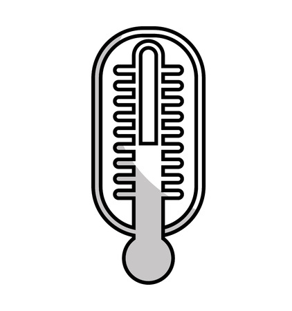 termometer: thermometer medical isolated icon vector illustration design Illustration