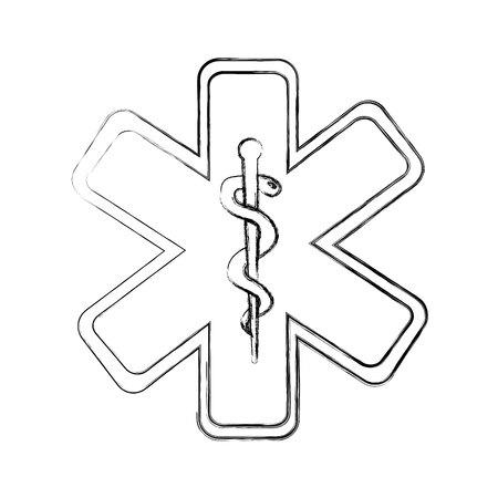 medicaid: caduceus symbol isolated icon vector illustration design
