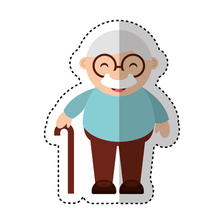 mature business man: grandfather avatar character icon vector illustration design
