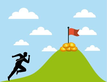 money challenge runner icon. colorful design. vector illustration