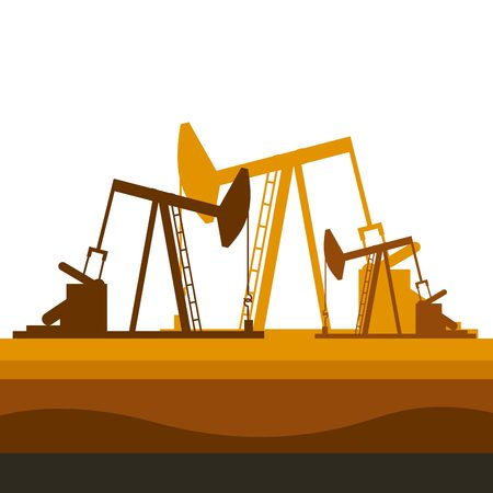 oil industry rig factory icon. colorful design. vector illustration