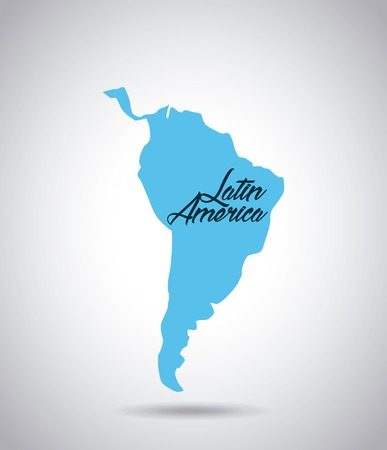 latin america map icon over white background. vector illustration