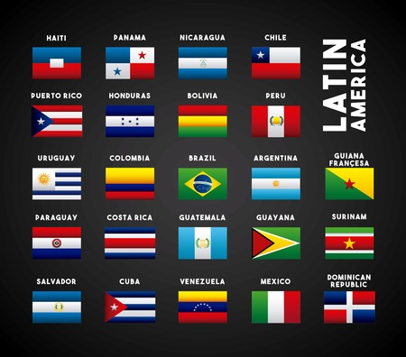 flags of latin america countries. colorful design. vector illustration 版權商用圖片 - 67878709