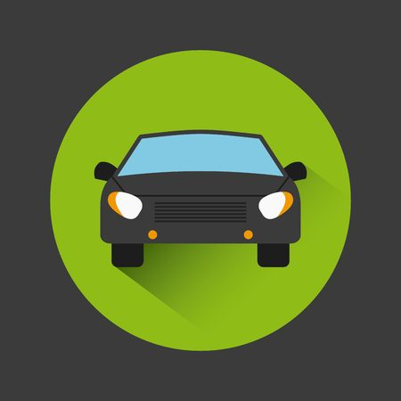 car vehicle icon inside colorful circles over balck background. vector illustration Illustration