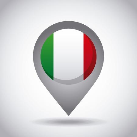 icône de broche drapeau pays Mexique sur fond blanc. design coloré. illustration vectorielle Illustration