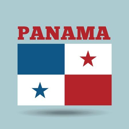 bandera de panama: Panamá icono de la bandera de país sobre fondo azul. diseño colorido. ilustración vectorial Foto de archivo
