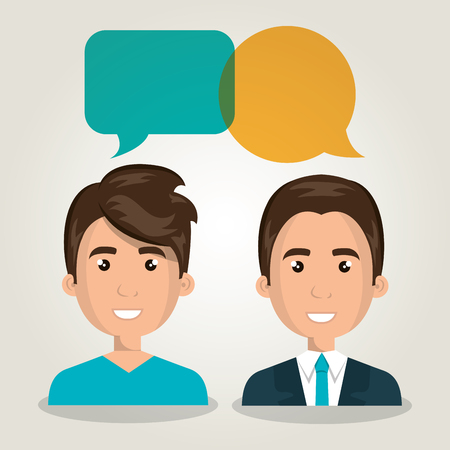 men talking dialogue isolated vector illustration eps 10