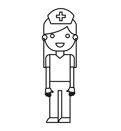 nursing uniforms: nurse avatar character isolated icon vector illustration design Illustration