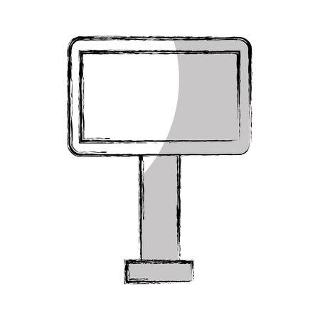 hoarding: big hoarding isolated icon vector illustration design